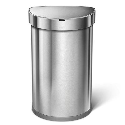 simplehuman Semi-Round Sensor Bin 45L - Silver