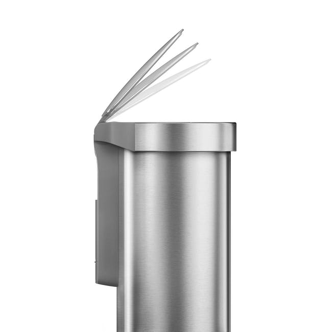 simplehuman Semi-Round Sensor Bin 45L - Silver - 3