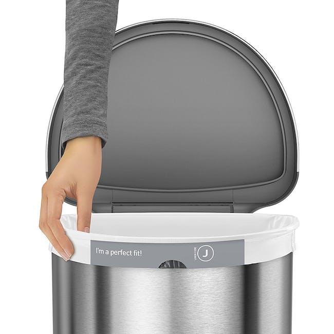 simplehuman Semi-Round Sensor Bin 45L - Silver - 2