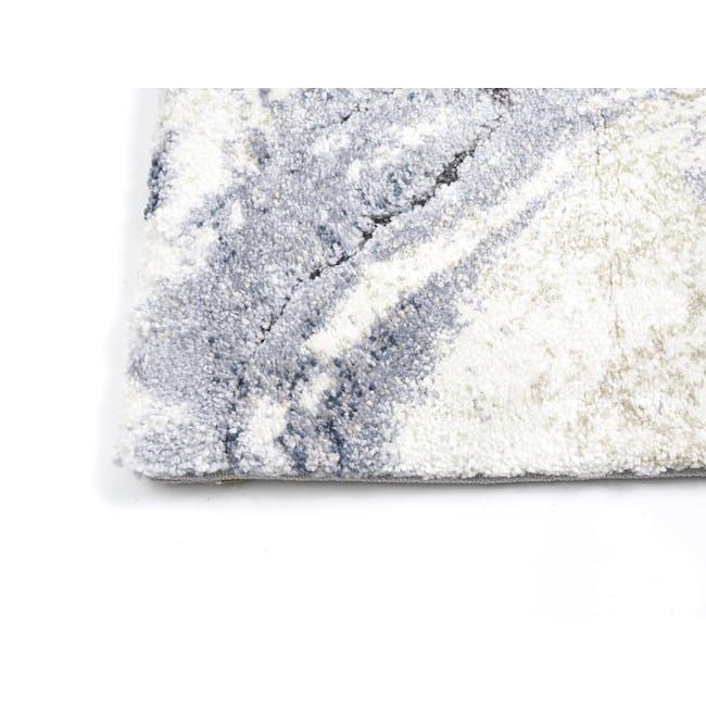 Valentino High Pile Rug 2.9m x 2.0m - Blue Marble - 2