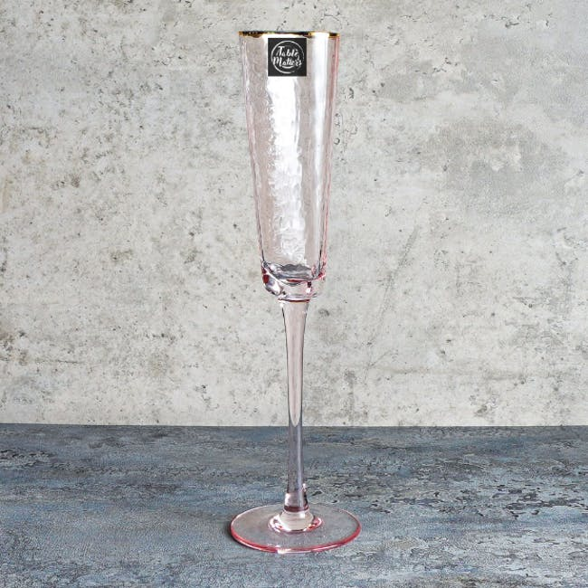 Table Matters Tsuchi Champagne Glass 200ml - Pink - 2