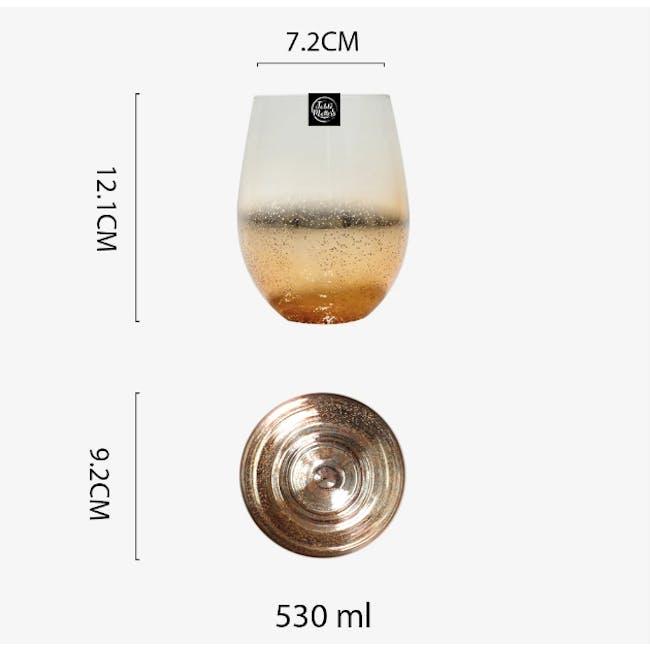 Table Matters Taikyu Luster Glass 530ml - Gold - 4