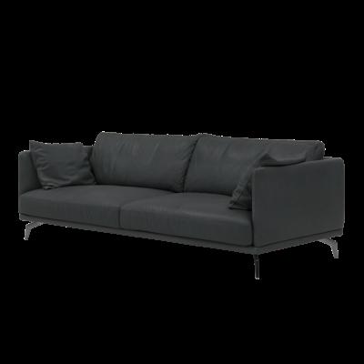 Como 3 Seater Sofa - Slate (Luxe Cowhide) - Image 2