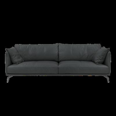 Como 3 Seater Sofa - Slate (Luxe Cowhide) - Image 1