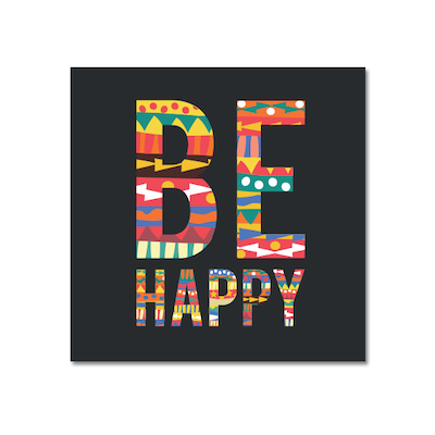 Be Happy Print Poster - Image 1