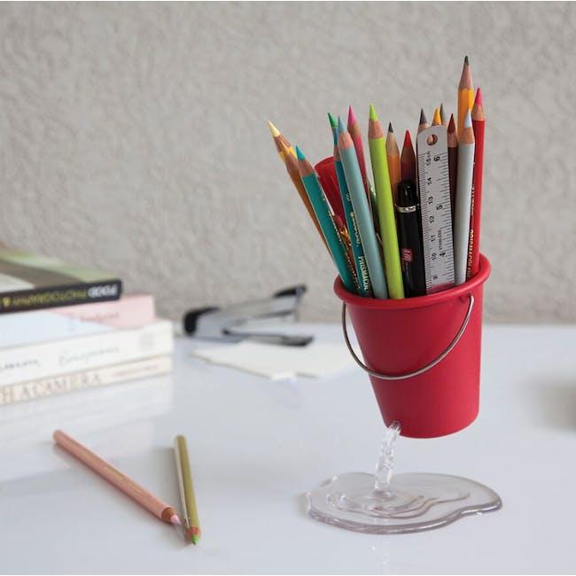 PELEG DESIGN Desk Bucket Floating Container - Red - 1