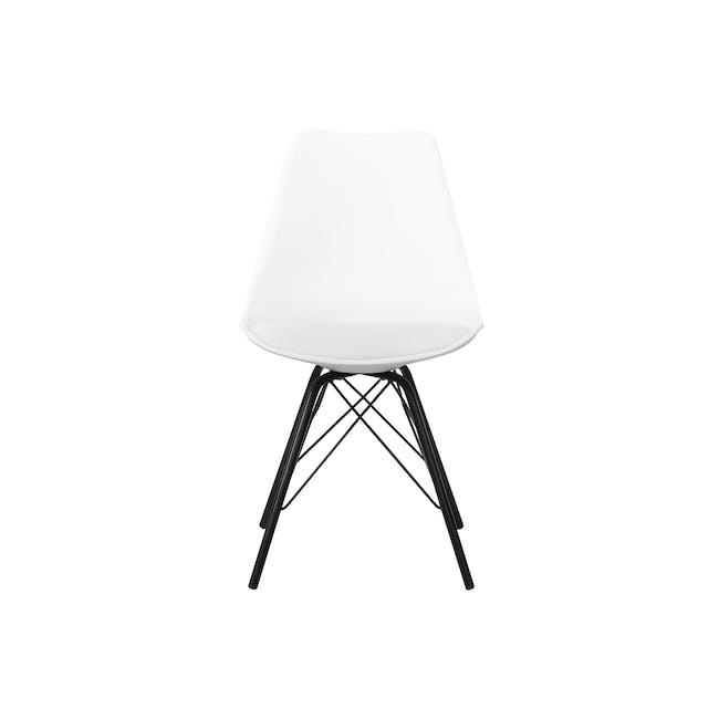 Axel Chair - Black, White - 1