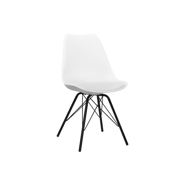 Axel Chair - Black, White - 4