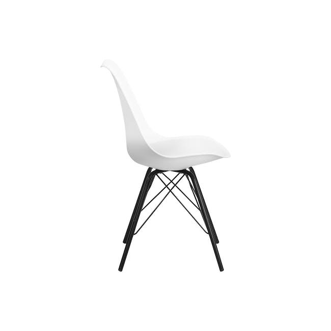 Axel Chair - Black, White - 2
