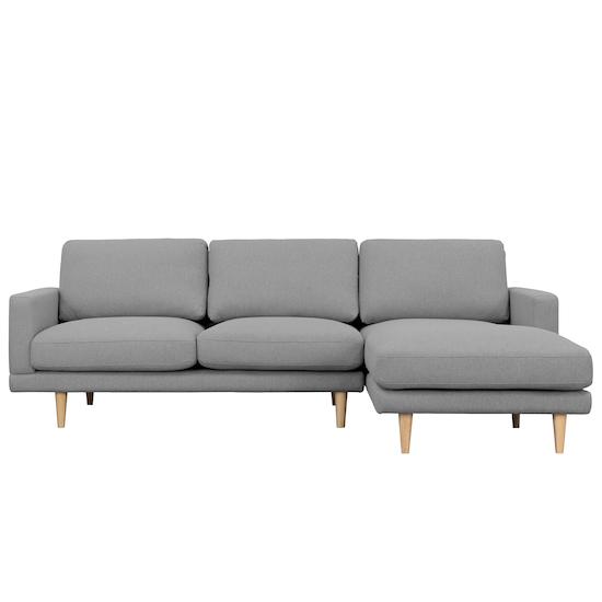 Declan L-Shaped Sofa - Smoke Grey