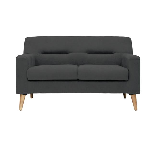 Damien 3 Seater Sofa with Damien 2 Seater Sofa - Onyx Grey - 5