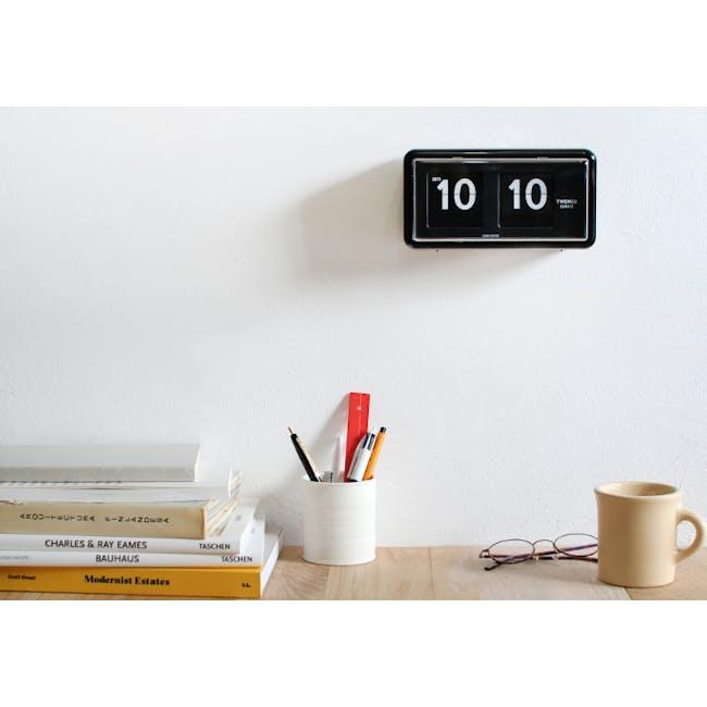 TWEMCO Table Clock - Black - 3
