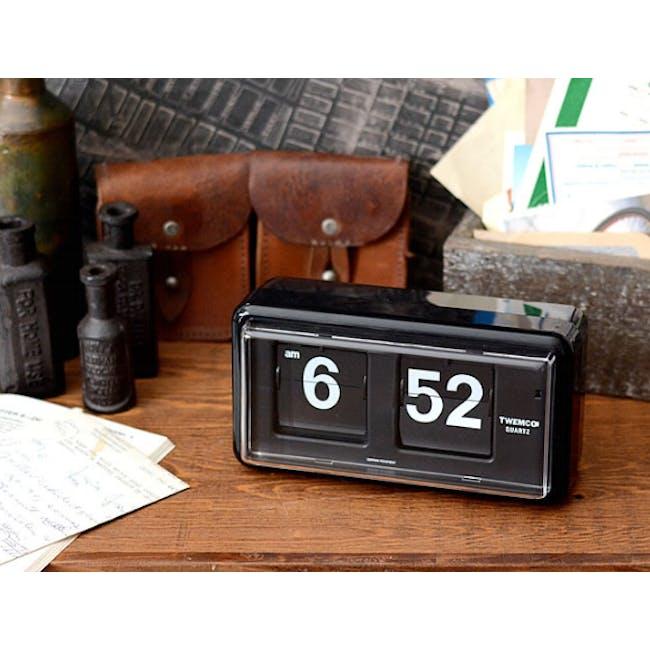 TWEMCO Table Clock - Black - 2