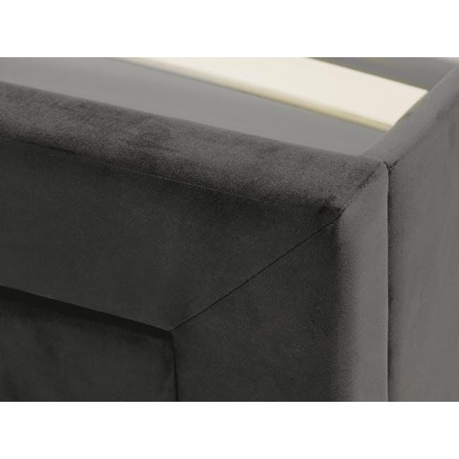 Lexi Queen 3 Drawer Bed - Moonstone (Velvet) - 9