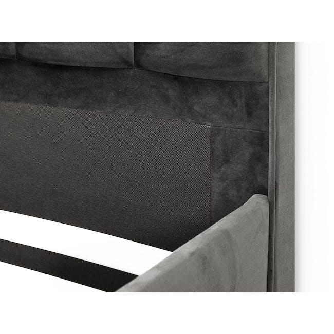 Lexi Queen 3 Drawer Bed - Moonstone (Velvet) - 11