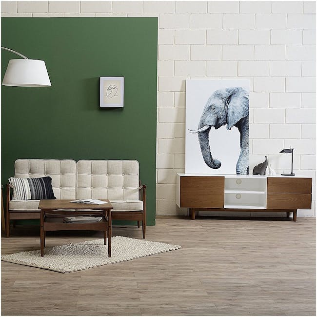 Aalto TV Cabinet 1.6m with Kyra High Coffee Table - Cocoa - 1