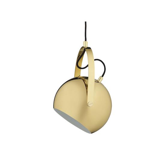 1e705b6ad8d Laholm - Slug Pendant Lamp with handle - Brass