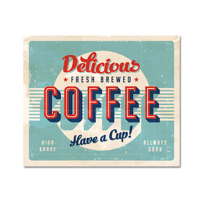 Fresh Brewed Coffee Print Poster - Image 1