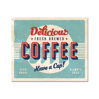 Fresh Brewed Coffee Print Poster - Image 1
