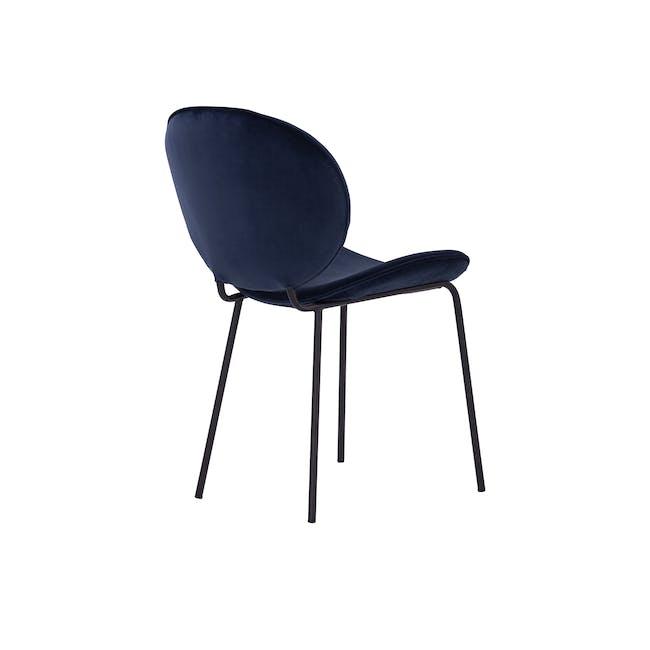 Ormer Dining Chair - Matt Black, Navy (Fabric) - 3