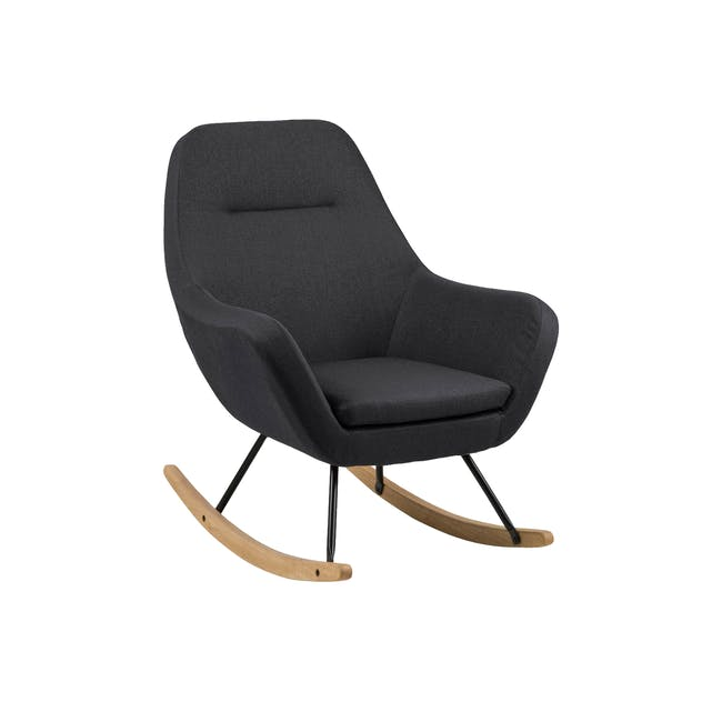 Levin Rocking Chair - Charcoal Grey - 0