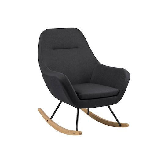 Levin Rocking Chair Charcoal Grey Laholm Hipvan