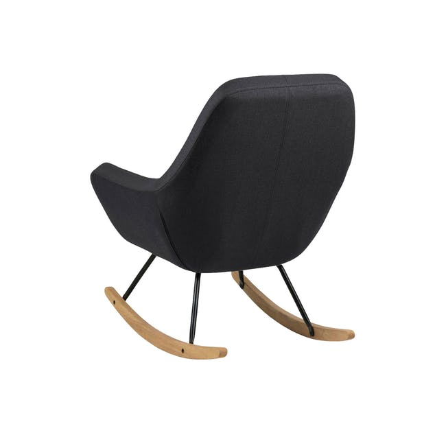 Levin Rocking Chair - Charcoal Grey - 2