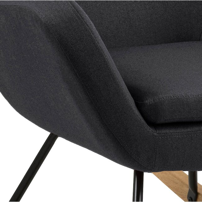 Levin Rocking Chair - Charcoal Grey - 3