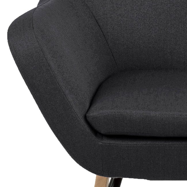 Levin Rocking Chair - Charcoal Grey - 4