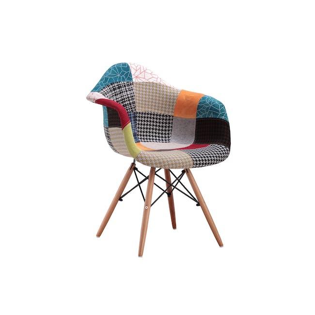 DAW Chair Replica - Natural, Patchwork - 5