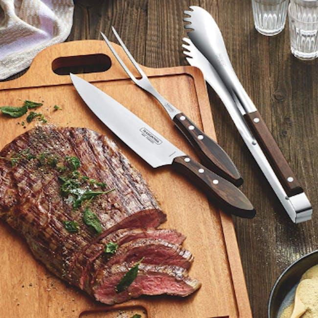 Churrasco Polywood Meat Tongs - Brown - 1