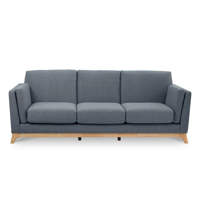 Elijah 3 Seater Sofa - Whale (Fabric) - 0