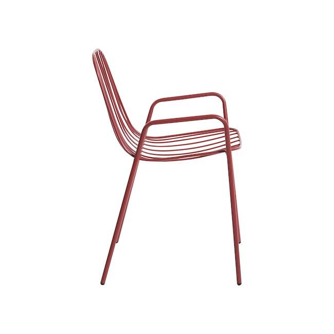 Nerissa Outdoor Armchair - Matt Red - 6