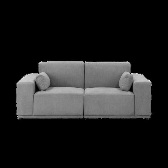 Premium Sofas By Hipvan Milan Loveseat Grey Fabric Hipvan