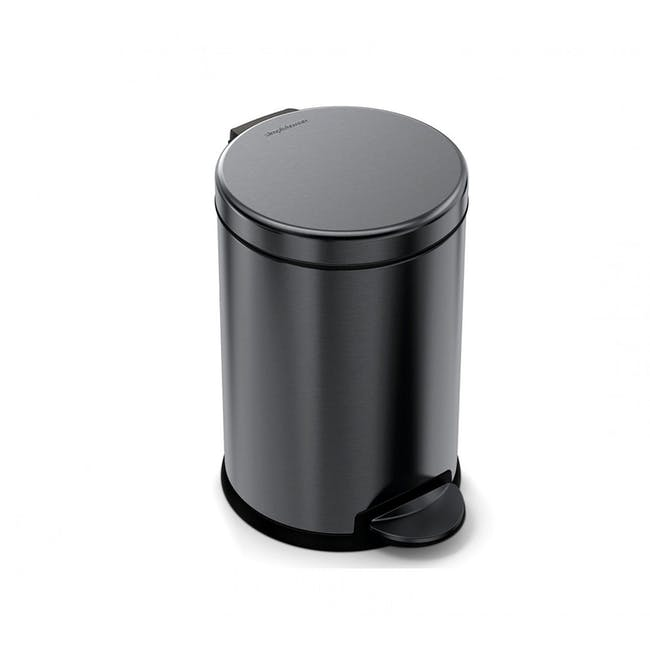 Simplehuman 4.5L Round Step Bin - Black - 0