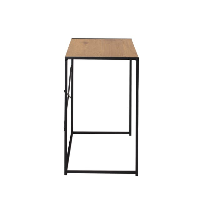 Bradford Study Console Table 1m - Black, Oak - 4
