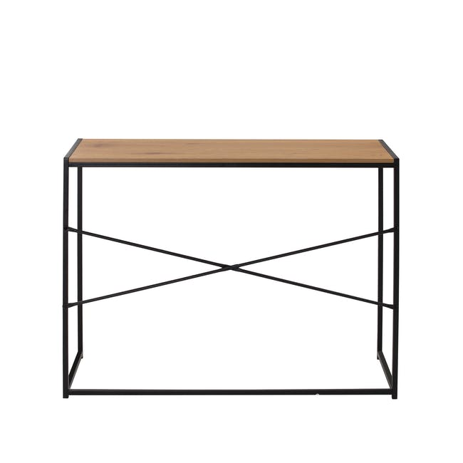 Bradford Study Console Table 1m - Black, Oak - 5