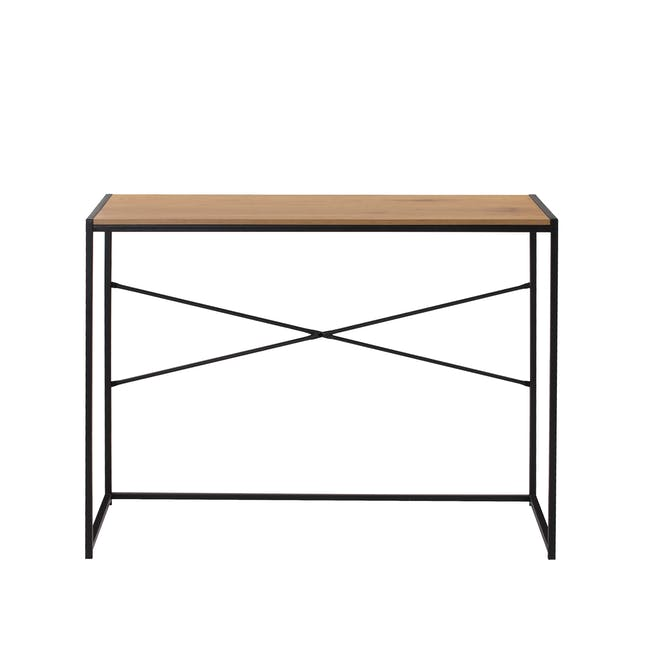 Bradford Study Console Table 1m - Black, Oak - 3