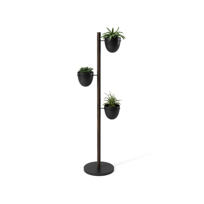 Floristand Planter - Walnut, Black - 1