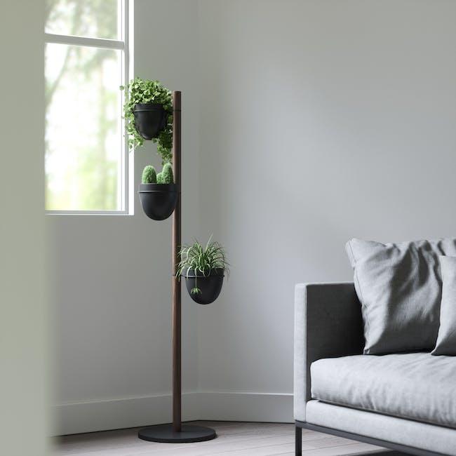 Floristand Planter - Walnut, Black - 9