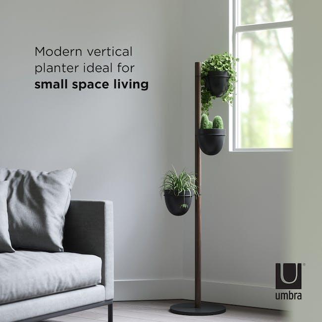 Floristand Planter - Walnut, Black - 6