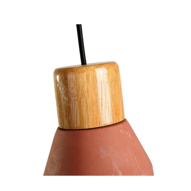 Charlie Concrete Pendant Lamp - Brick Red - 3