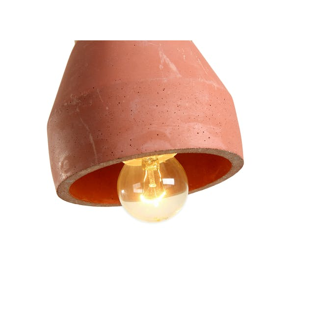 Charlie Concrete Pendant Lamp - Brick Red - 2