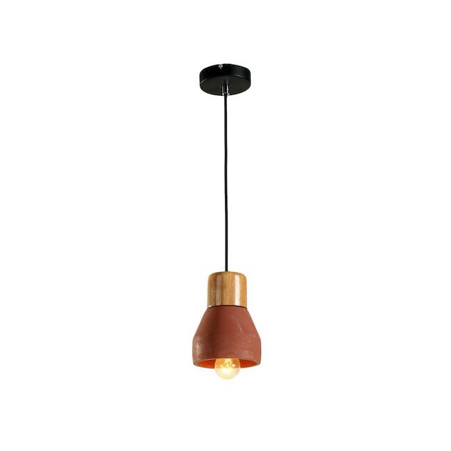 Charlie Concrete Pendant Lamp - Brick Red - 1