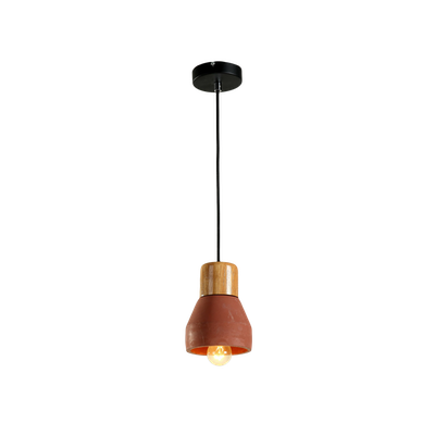 Charlie Concrete Pendant Lamp - Brick Red - Image 2