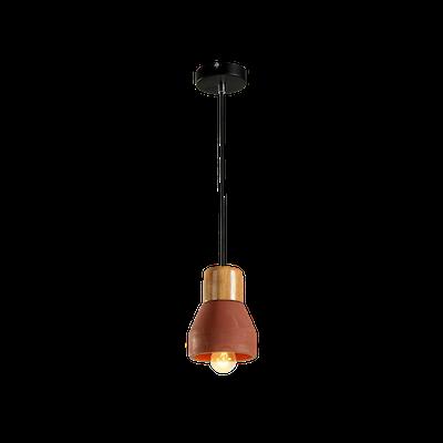 Charlie Concrete Pendant Lamp - Brick Red - Image 2