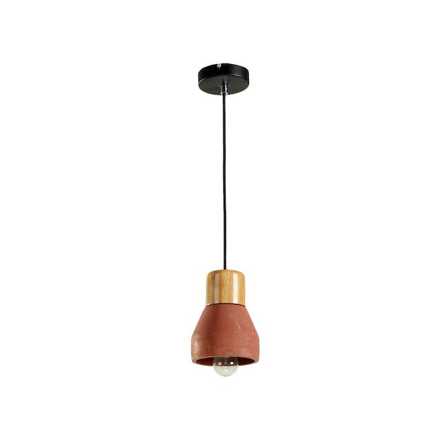 Charlie Concrete Pendant Lamp - Brick Red - 0