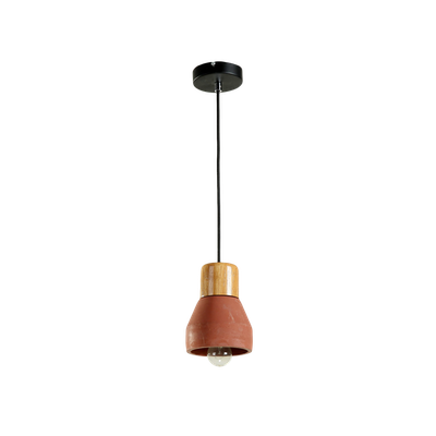 Charlie Concrete Pendant Lamp - Brick Red - Image 1