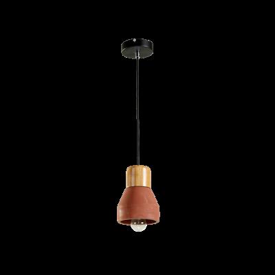 Charlie Concrete Pendant Lamp - Brick Red - Image 1