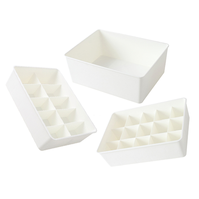 Paxton Compartment Box (Set of 3) - White - Image 1
